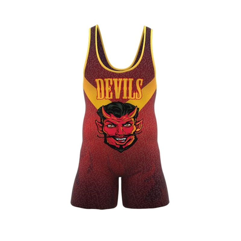 ZA Enforcer Wrestling Singlet Mens-0