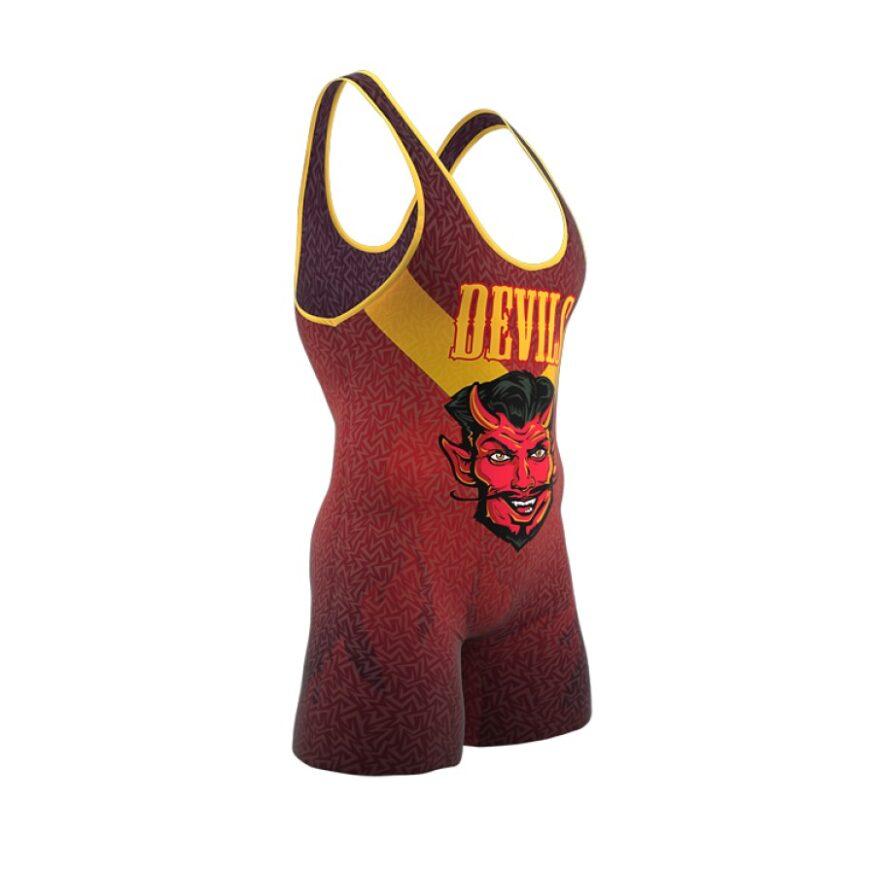 ZA Enforcer Wrestling Singlet Mens-1117