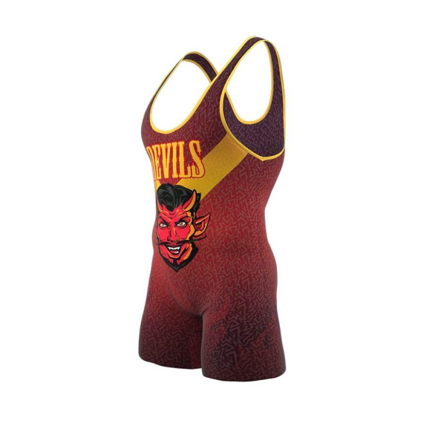 ZA Enforcer Wrestling Singlet Mens-1119