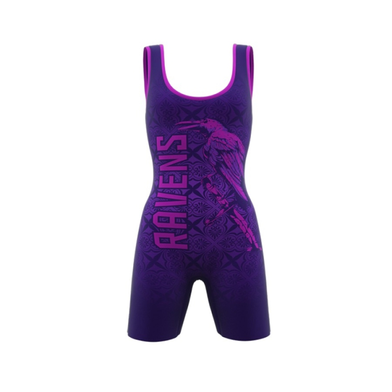 ZA Enforcer Wrestling Singlet Womens-0