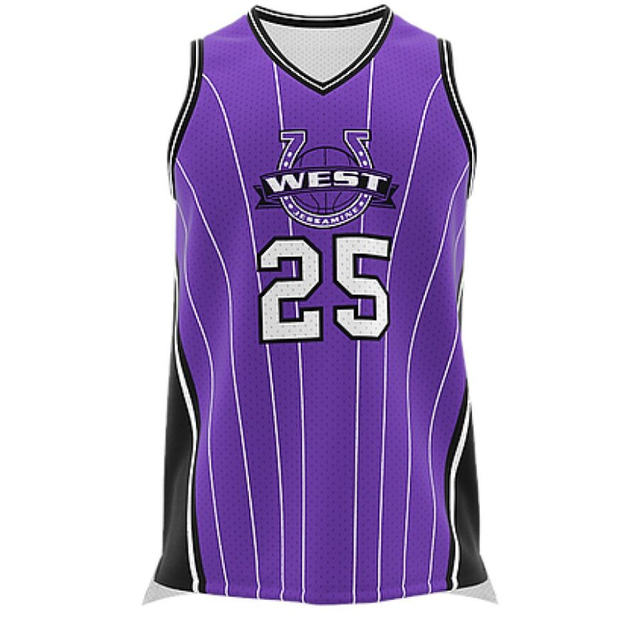ZA GameDay Basketball V-Neck Jersey-0