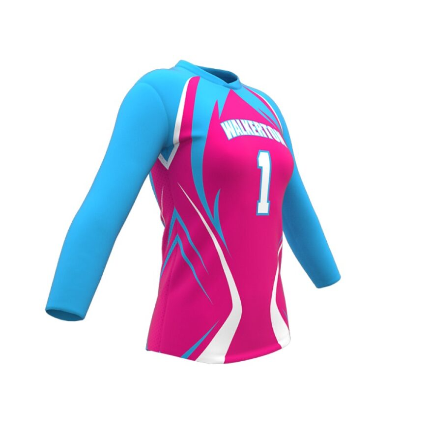 ZA Attack Long Sleeve Volleyball Jersey-1136