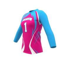 ZA Attack Long Sleeve Volleyball Jersey-1139