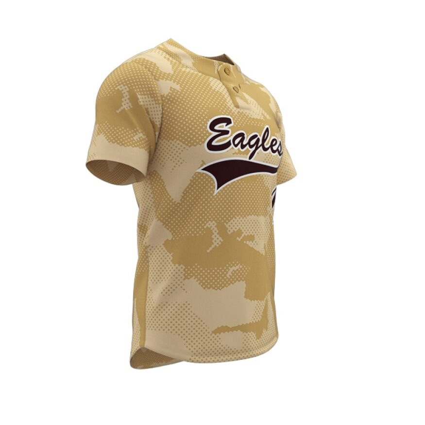 ZA Walk-Off Series 2 Button Short Sleeve Baseball Jersey-1240