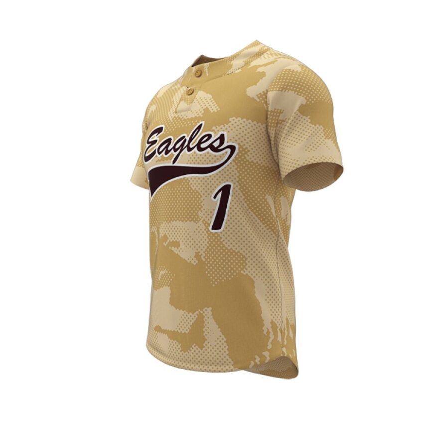 ZA Walk-Off Series 2 Button Short Sleeve Baseball Jersey-1244