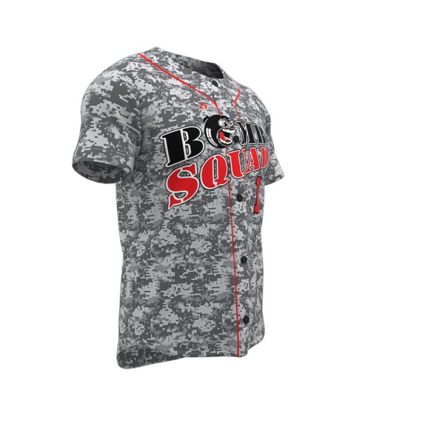 ZA Walk-Off Series Full Button Short Sleeve Baseball Jersey-1258