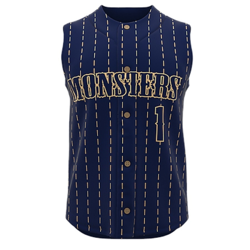ZA Walk-Off Series Full Button Sleeveless Baseball Jersey-0