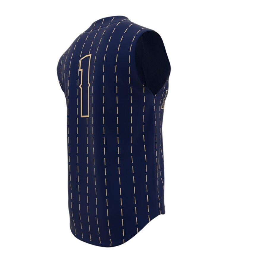 ZA Walk-Off Series Full Button Sleeveless Baseball Jersey-1254