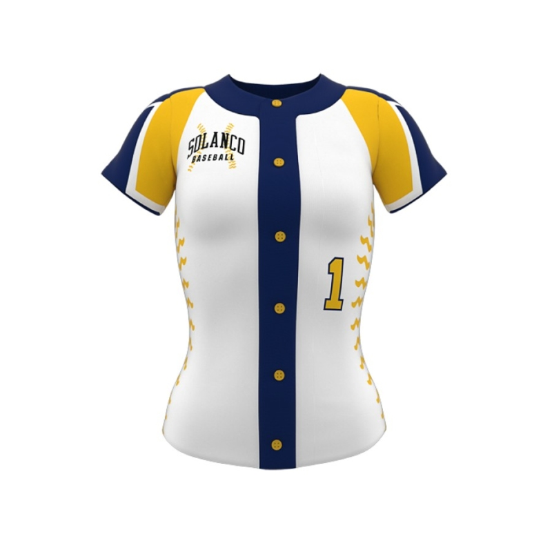 ZA Diamond Fastpitch Full Button Jersey-0