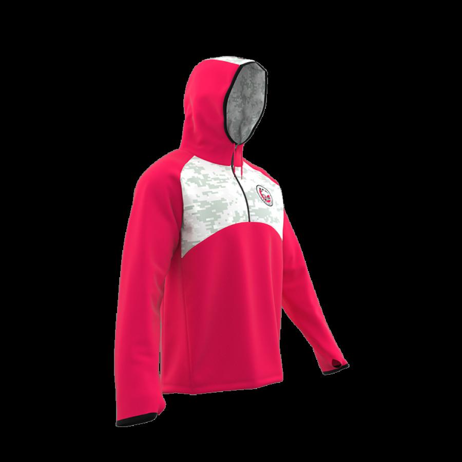 ZA Icon ¼ Zip Hybrid Hooded Warmup-1881