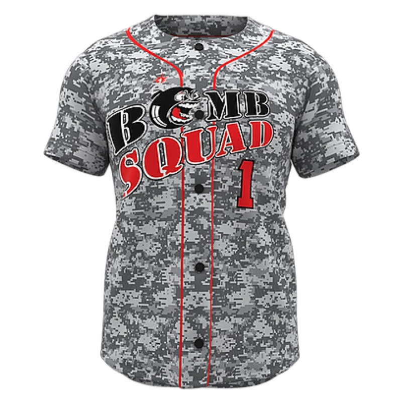 ZA Walk-Off Series Full Button Short Sleeve Baseball Jersey-0