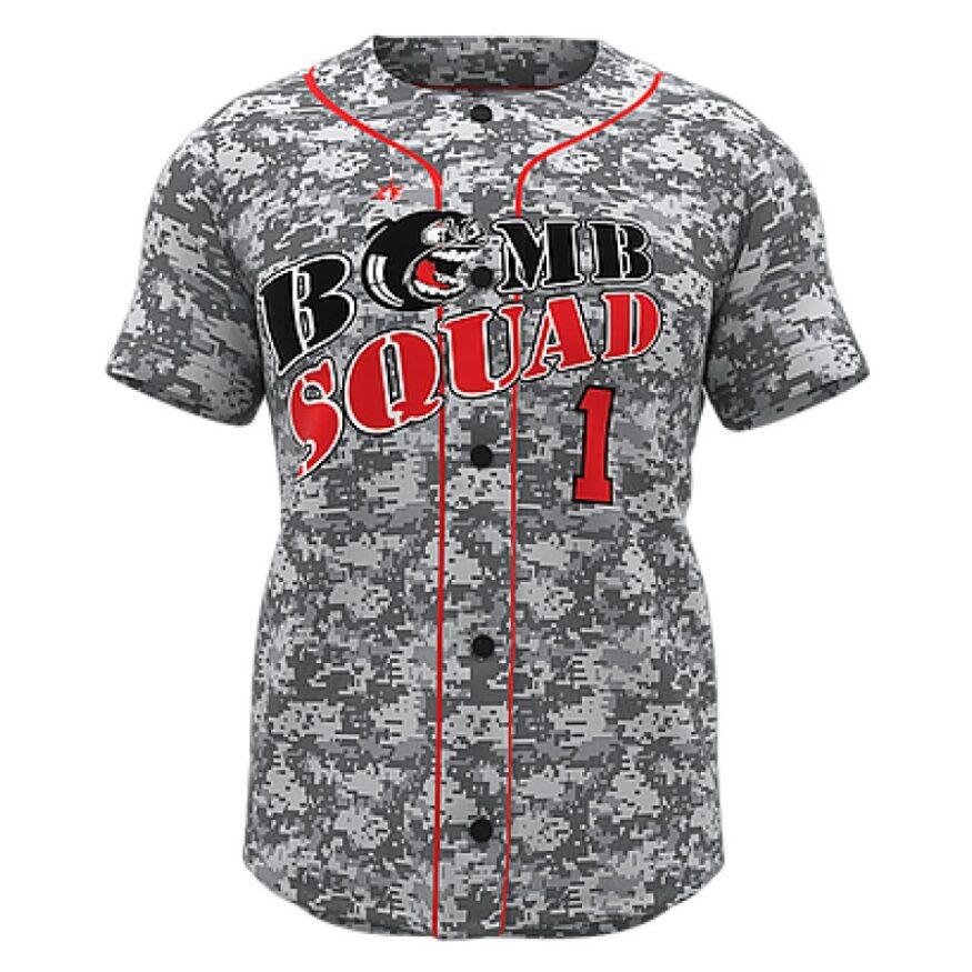 ZA Walk-Off Series Full Button Short Sleeve Baseball Jersey-0