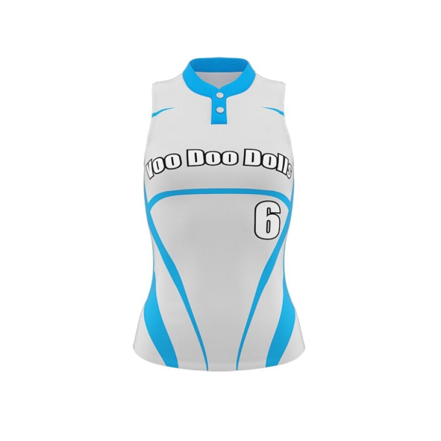 ZA Diamond Fastpitch 2 Button Sleeveless Jersey-0