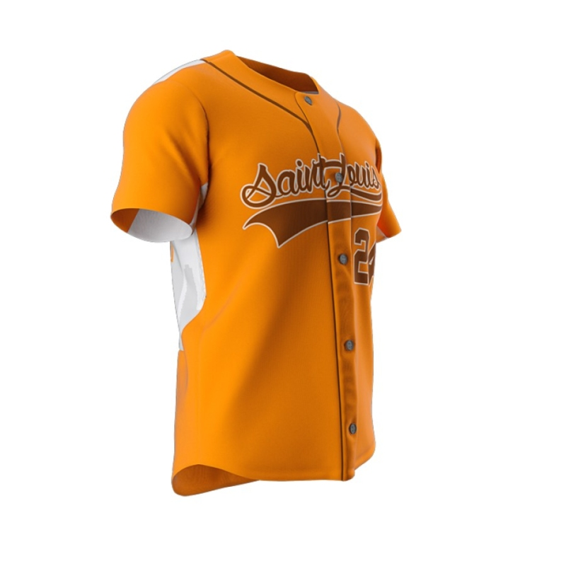 ZA Dynasty Full Button Short Sleeve Jersey-1266