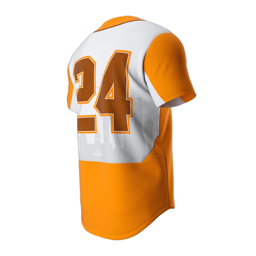 ZA Dynasty Full Button Short Sleeve Jersey-1267