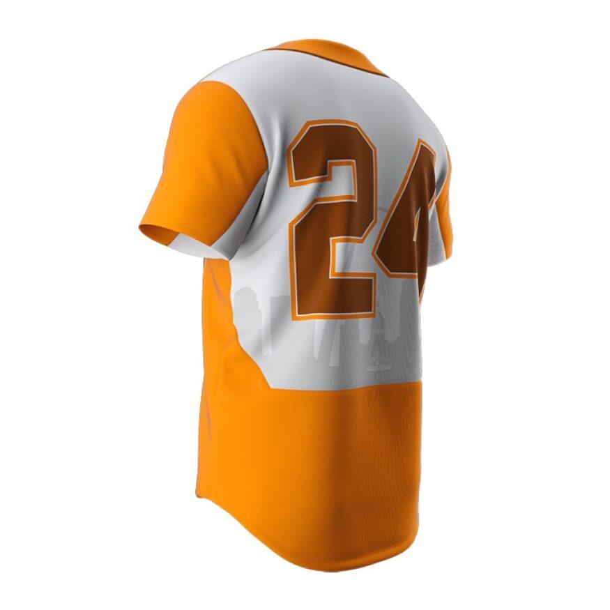 ZA Dynasty Full Button Short Sleeve Jersey-1268