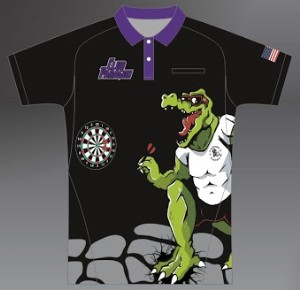 ZA Sideline Polo Shirt - Club Paragon Darts Purple Collar-0