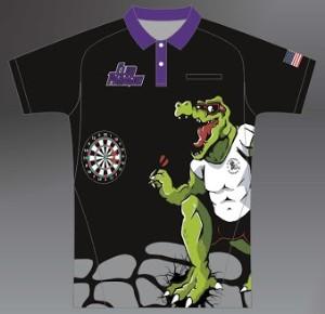 ZA Sideline Polo Shirt - Club Paragon Darts Purple Collar-0