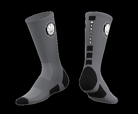 Michigan Mystics Custom Socks 2019 - Gray-0