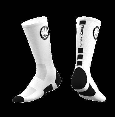 Michigan Mystics Custom Socks 2019 - White-0