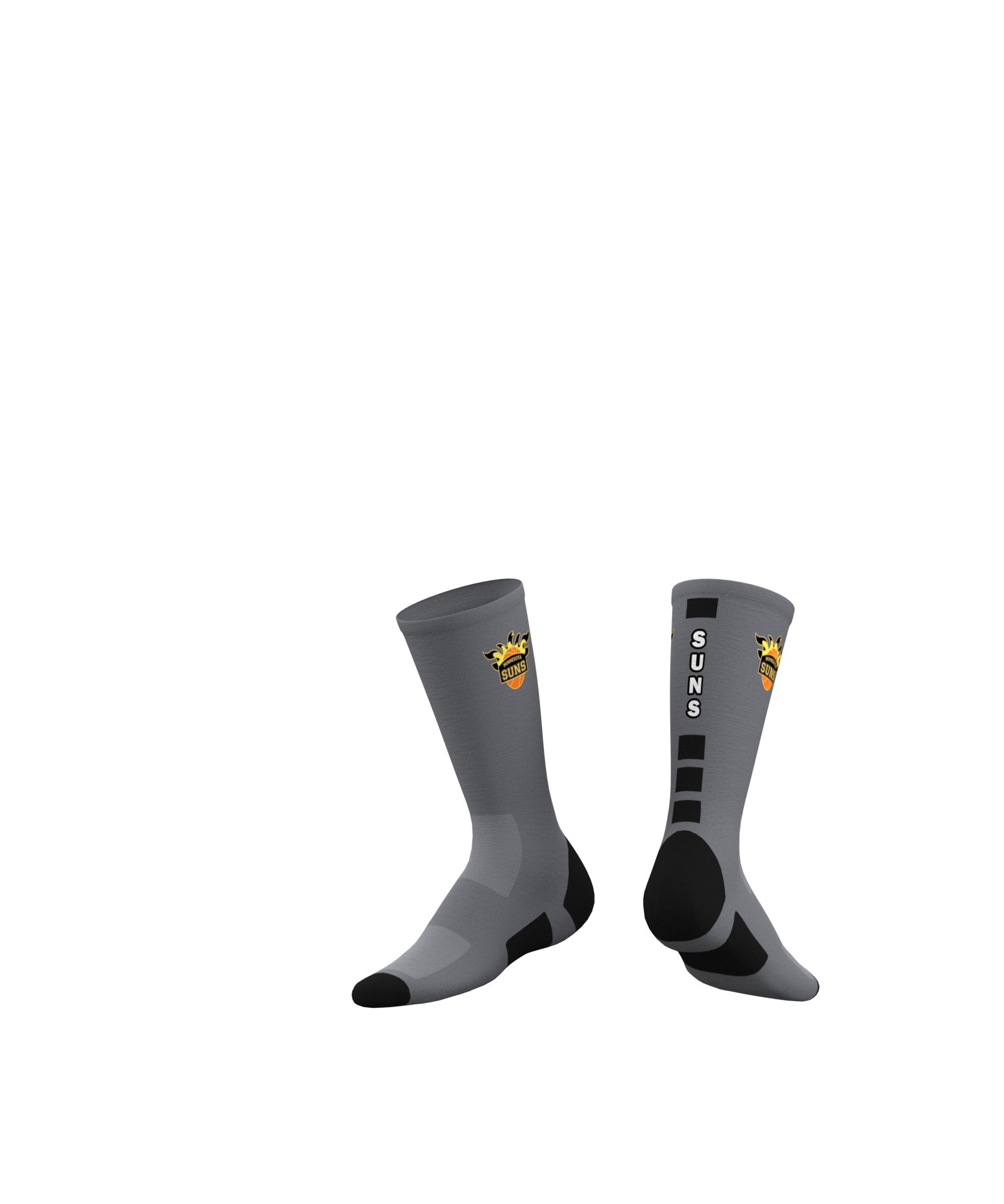 Minnesota Suns Custom Socks 2019 - Gray-0