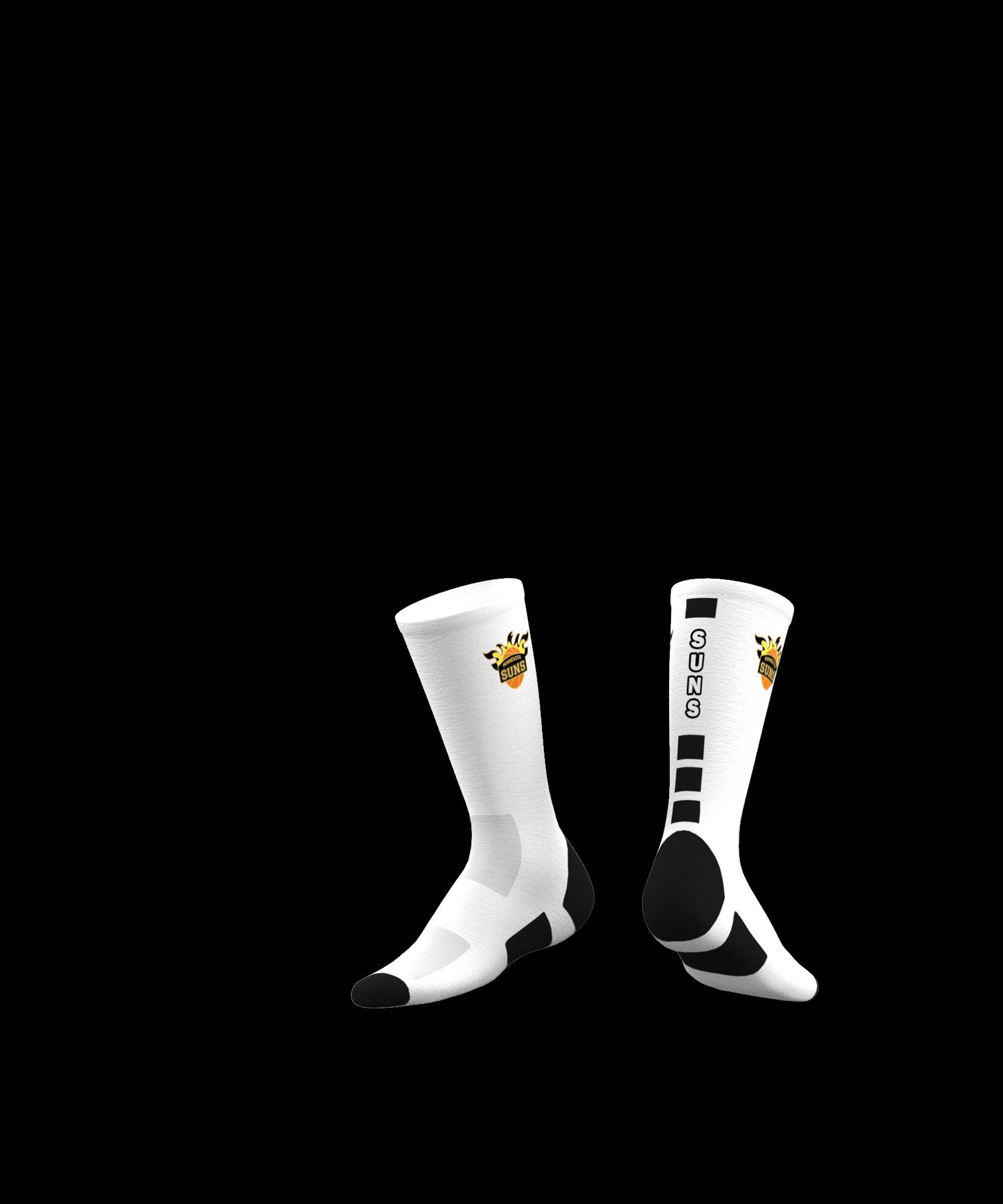 Minnesota Suns Custom Socks 2019 - White-0