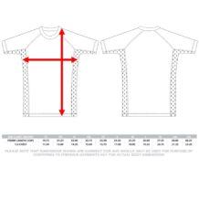 Zone Athletics Mens Compression Sizing Chart Short Sleeve