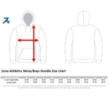 Zone Athletics Mens Boys Hoodie Sizing Chart